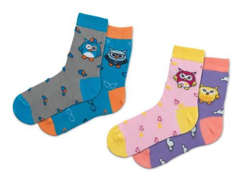Hangulatbaglyocska zokni - 2 pár