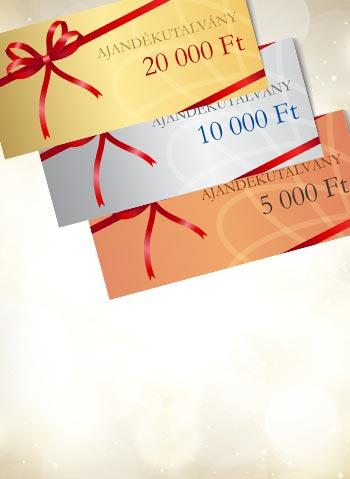 Ajándékutalványok